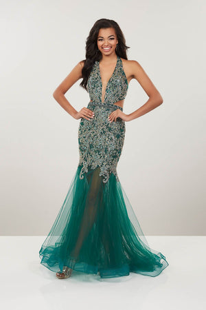 Panoply 14964 prom dress images.  Panoply 14964 is available in these colors: Blush, Emerald.