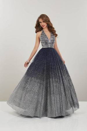 Panoply 14965 prom dress images.  Panoply 14965 is available in these colors: Navy Silver, Rose Silver.