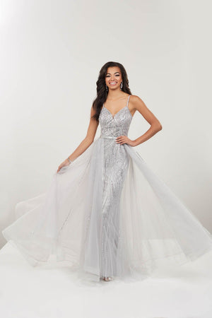 Panoply 14966 prom dress images.  Panoply 14966 is available in these colors: Red, Silver.