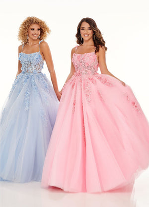 Rachel Allan 70036 prom dress images.  Rachel Allan 70036 is available in these colors: Pink, Powder Blue.