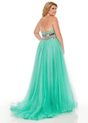 Rachel Allan 70038W prom dress images.  Rachel Allan 70038W is available in these colors: Jade, Periwinkle.