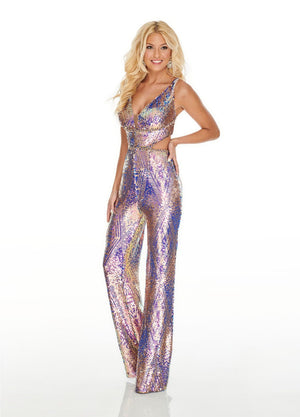 Rachel Allan 7006 prom dress images.  Rachel Allan 7006 is available in these colors: Iridescent Champagne, Iridescent Periwinkle.