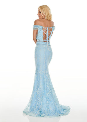 Rachel Allan 7007 prom dress images.  Rachel Allan 7007 is available in these colors: Pink, Lilac, Powder Blue.