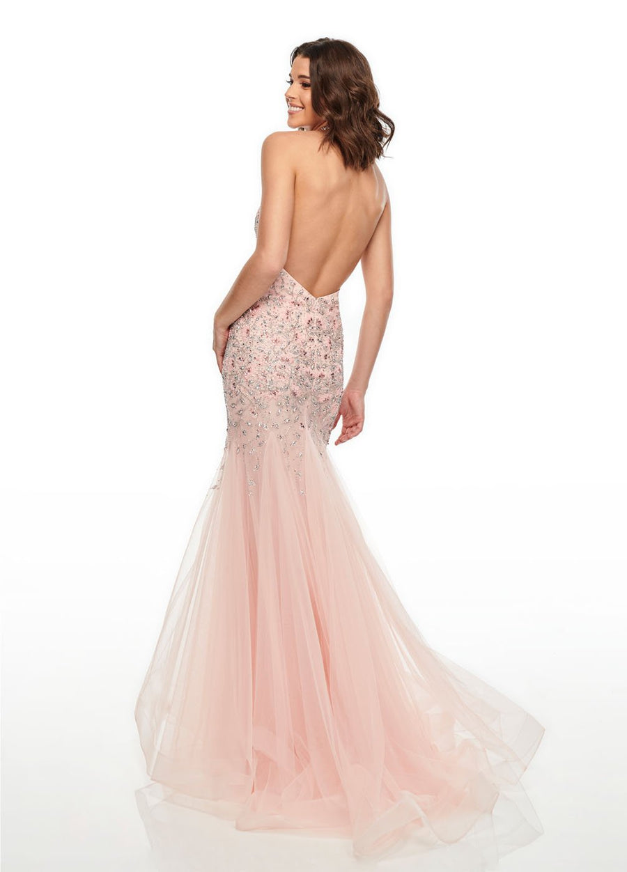 Rachel Allan 7008 prom dress images.  Rachel Allan 7008 is available in these colors: Blush Silver, Navy Lilac, Powder Blue Lilac.