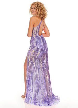 Rachel Allan 70101 prom dress images.  Rachel Allan 70101 is available in these colors: Purple Iridescent, Turquoise Iridescent.