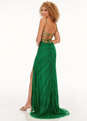 Rachel Allan 70114 prom dress images.  Rachel Allan 70114 is available in these colors: Deep Coral, Emerald.