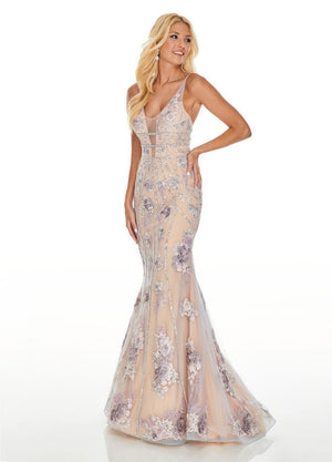 Rachel Allan 7036 prom dress images.  Rachel Allan 7036 is available in these colors: Lilac Nude, Mint Nude.