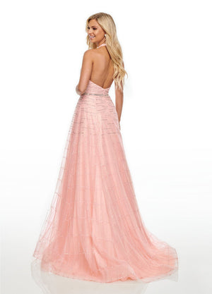 Rachel Allan 7082 prom dress images.  Rachel Allan 7082 is available in these colors: Aqua Green, Blush, Periwinkle.