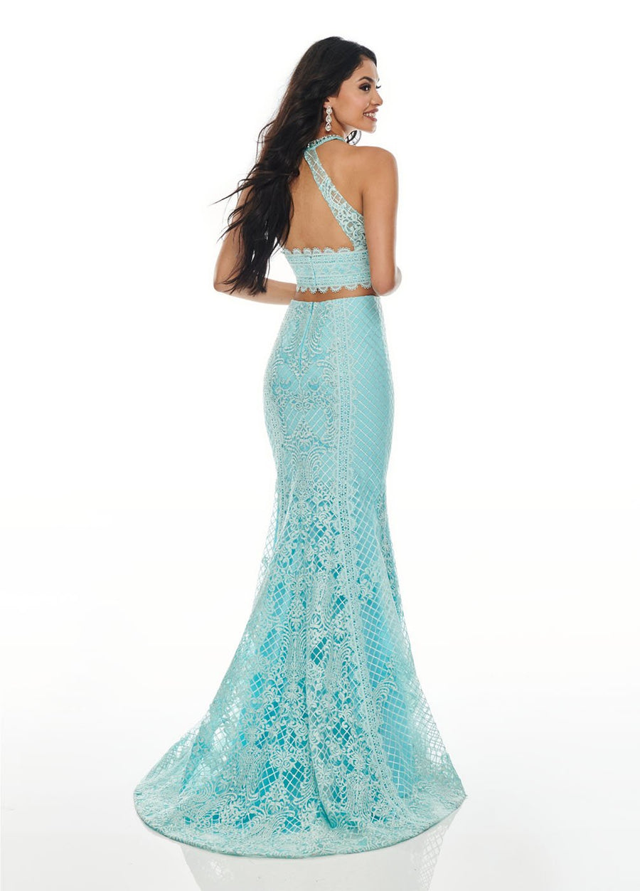 Rachel Allan 7088 prom dress images.  Rachel Allan 7088 is available in these colors: Aqua Blue, Blush, Lilac.