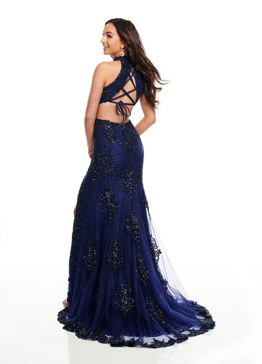 Rachel Allan 7090 prom dress images.  Rachel Allan 7090 is available in these colors: Navy, Red.