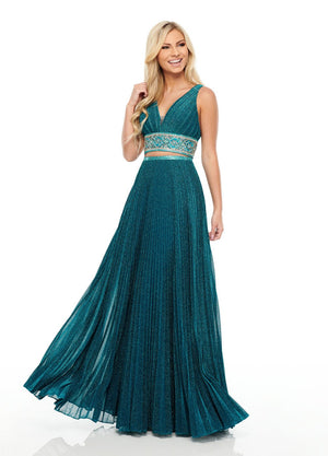 Rachel Allan 7099 prom dress images.  Rachel Allan 7099 is available in these colors: Ocean Blue, Rose Gold, Royal.