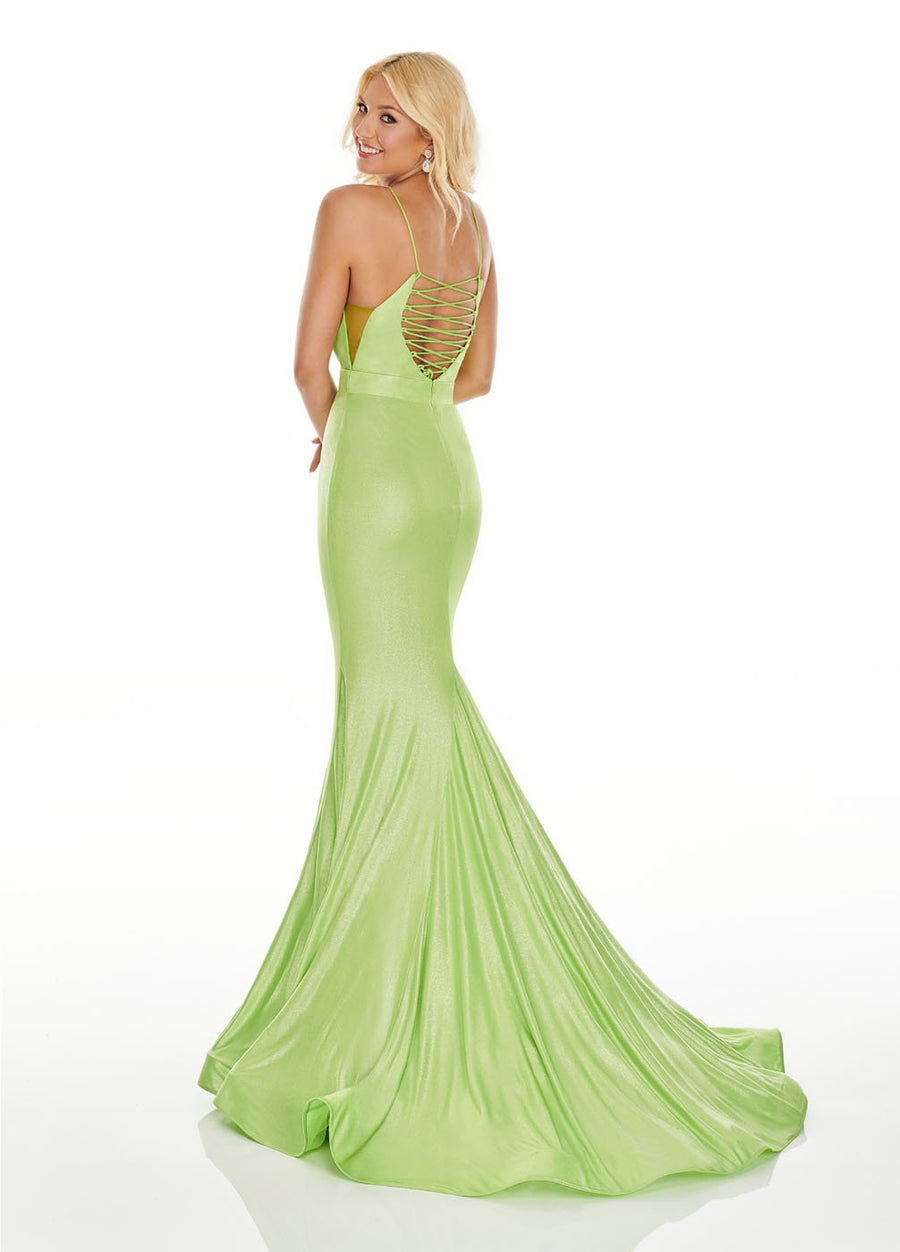 Rachel Allan 7118 prom dress images.  Rachel Allan 7118 is available in these colors: Acid Green, Aqua, Fuchsia, Lilac.