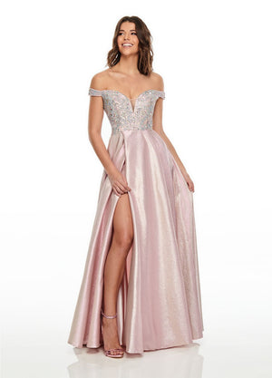 Rachel Allan 7146 prom dress images.  Rachel Allan 7146 is available in these colors: Blush, Sky Blue.