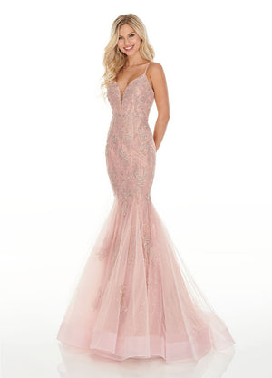 Rachel Allan 7150 prom dress images.  Rachel Allan 7150 is available in these colors: Blush, Gold, Powder Blue.