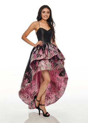 Rachel Allan 7168 prom dress images.  Rachel Allan 7168 is available in these colors: Black, Navy.
