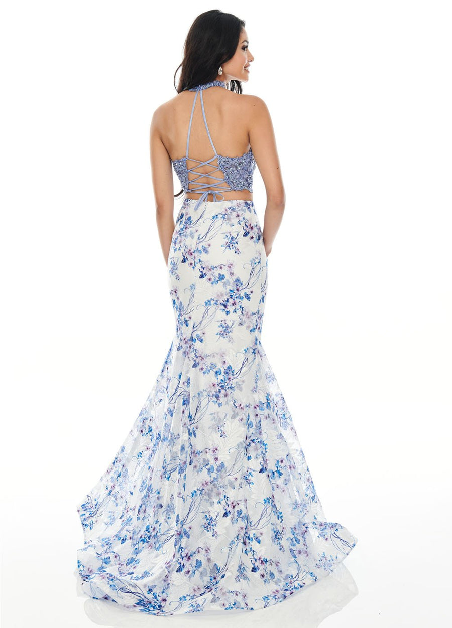Rachel Allan 7170 prom dress images.  Rachel Allan 7170 is available in these colors: Periwinkle, Purple.