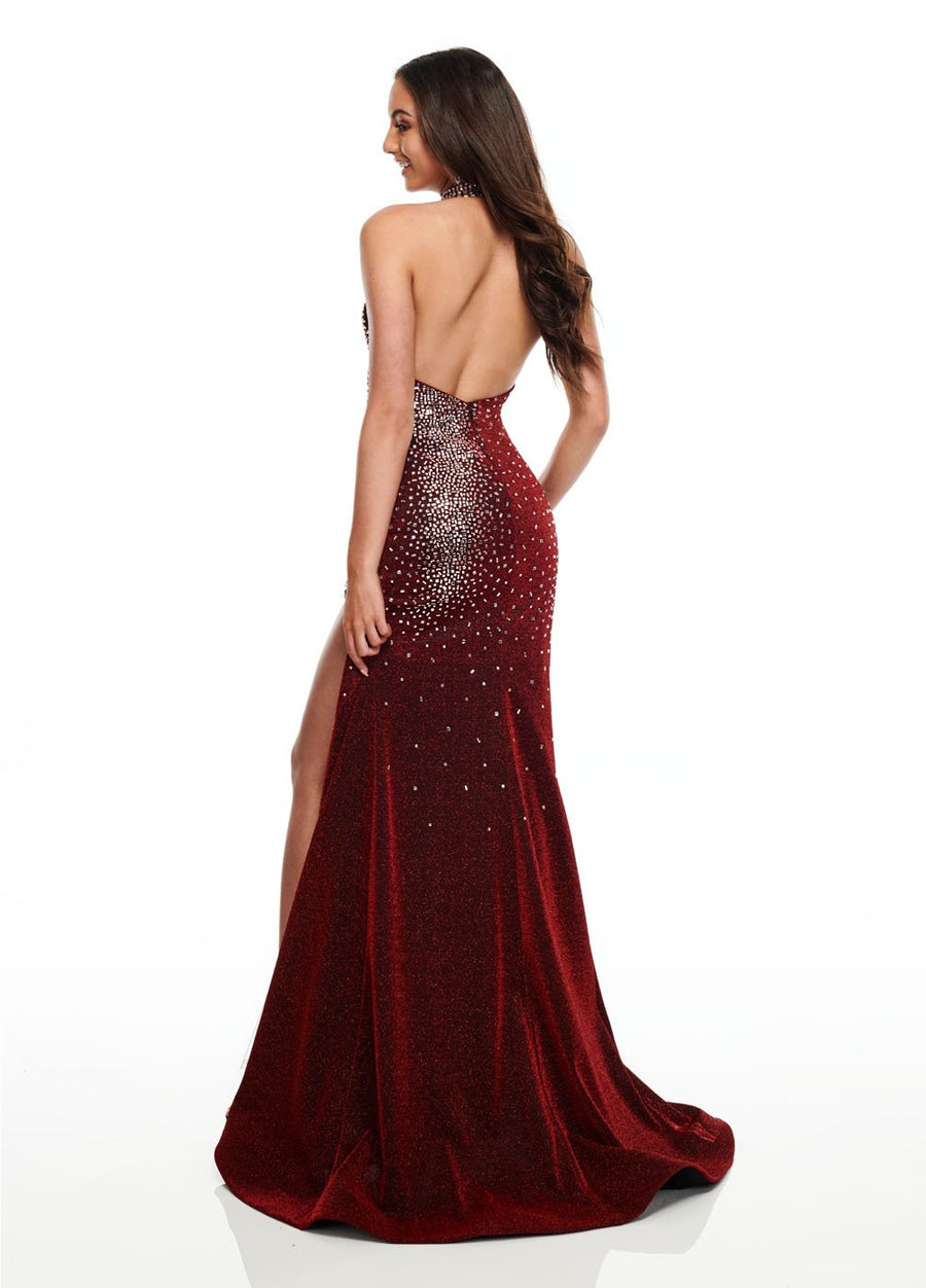 Rachel Allan 7197 prom dress images.  Rachel Allan 7197 is available in these colors: Deep Red, Royal, Turquoise.