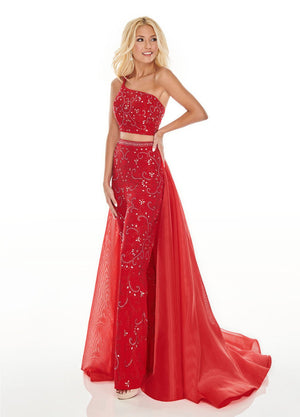 Rachel Allan 7204 prom dress images.  Rachel Allan 7204 is available in these colors: Red, Royal, White.