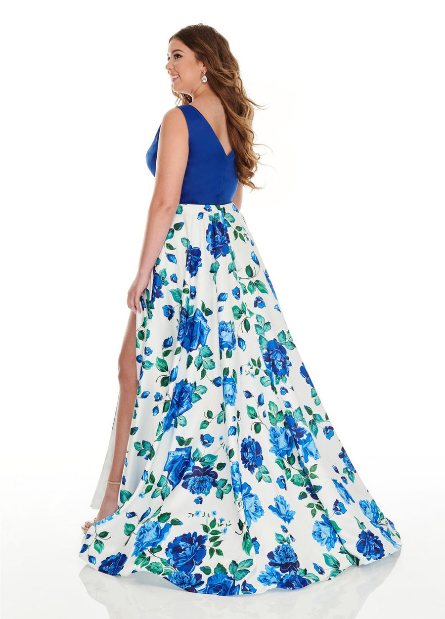 Rachel Allan 7217 prom dress images.  Rachel Allan 7217 is available in these colors: White Royal, Yellow Purple.