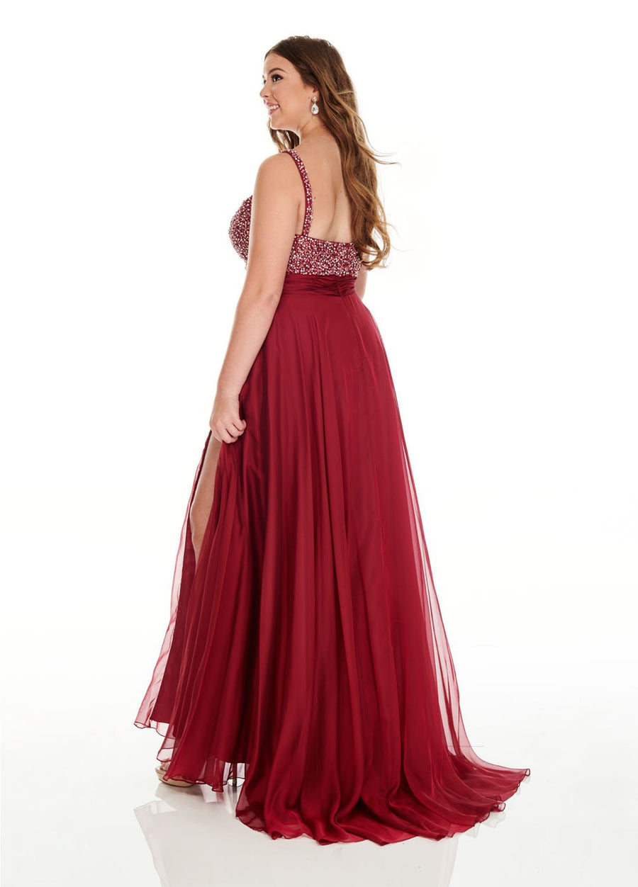Rachel Allan 7220 prom dress images.  Rachel Allan 7220 is available in these colors: Marsala, Periwinkle.