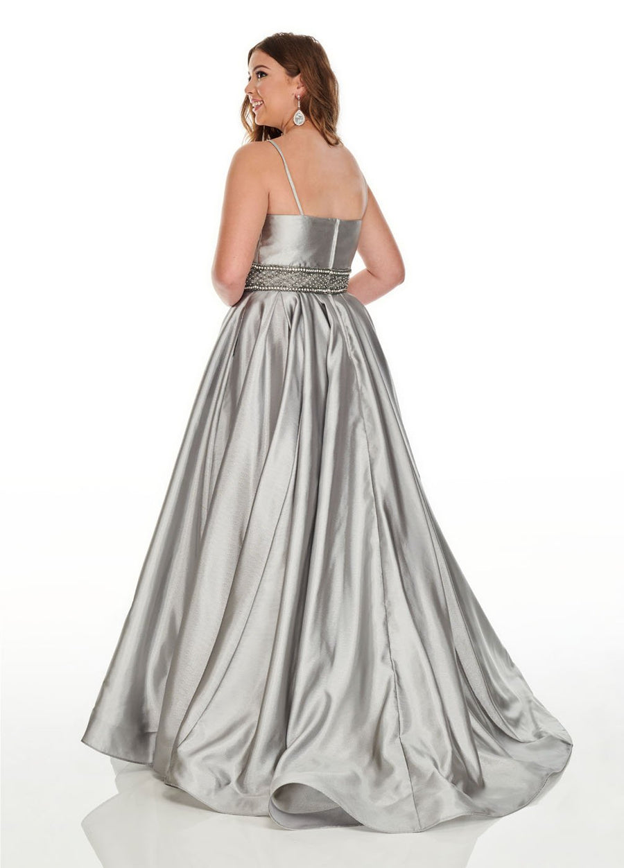 Rachel Allan 7223 prom dress images.  Rachel Allan 7223 is available in these colors: Gunmetal, Royal.