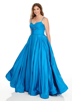 Rachel Allan 7229 prom dress images.  Rachel Allan 7229 is available in these colors: Ocean Blue, Red.