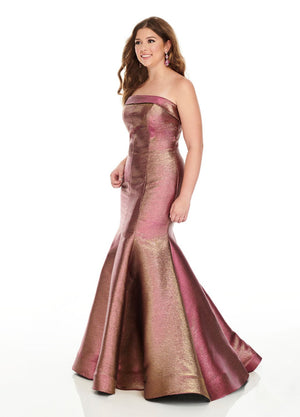 Rachel Allan 7231 prom dress images.  Rachel Allan 7231 is available in these colors: Magenta, Peacock.