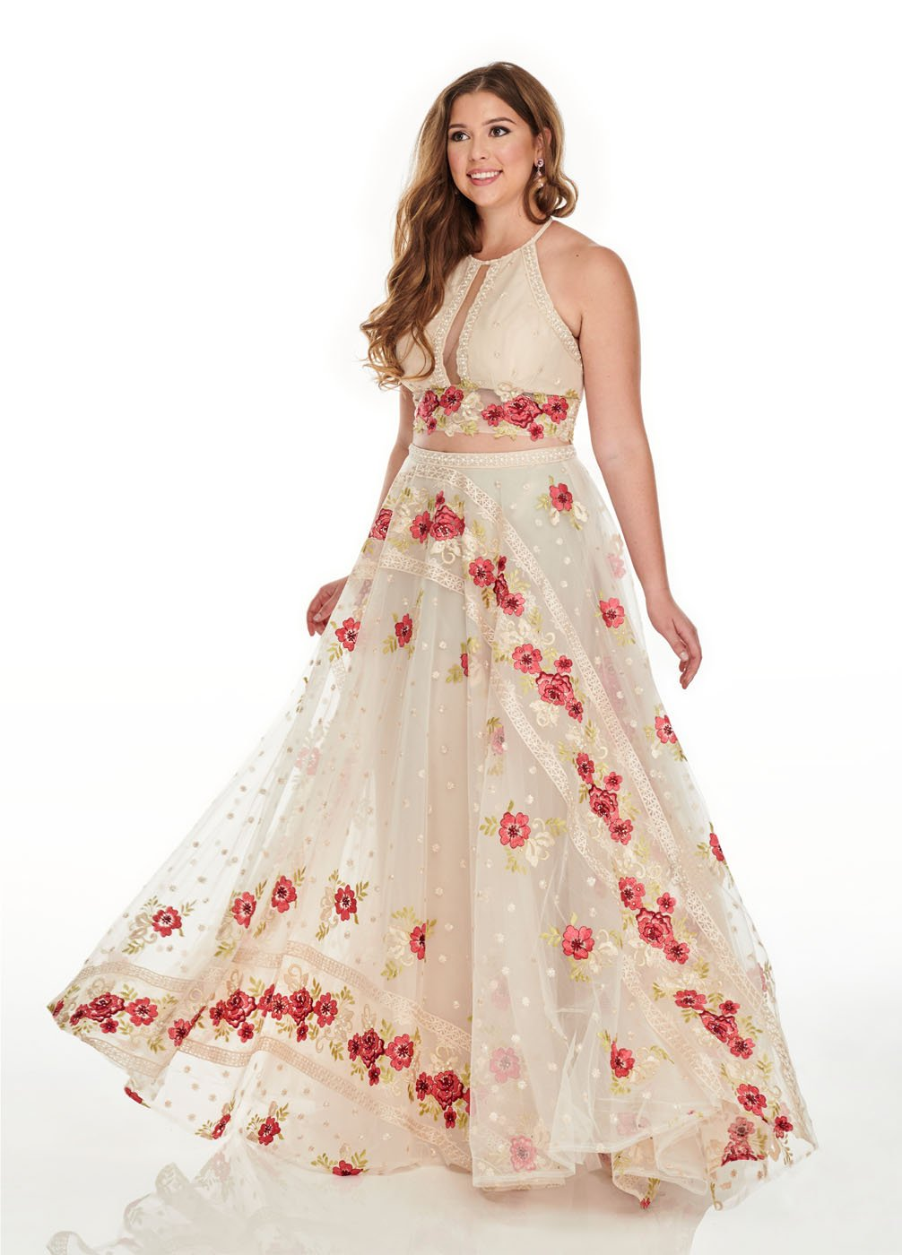 Rachel Allan 7233 prom dress images.  Rachel Allan 7233 is available in these colors: White Coral, Navy Magenta.