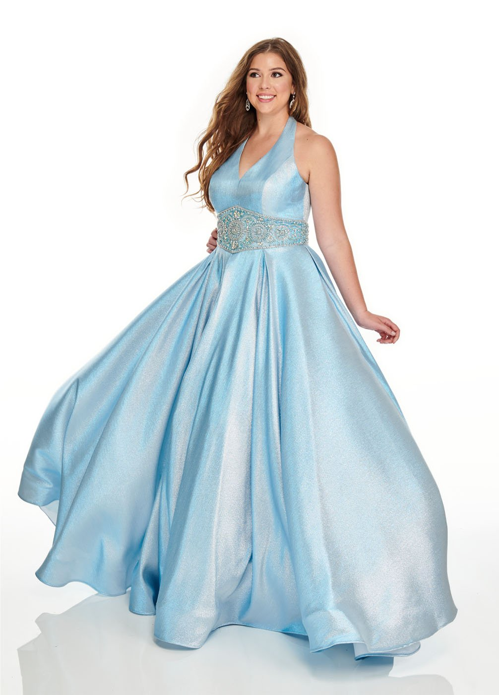 Rachel Allan 7239 prom dress images.  Rachel Allan 7239 is available in these colors: Light Blue, Pink.