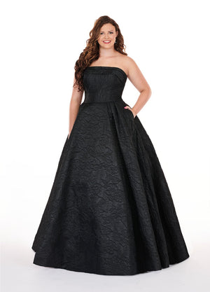 Rachel Allan 7241 prom dress images.  Rachel Allan 7241 is available in these colors: Black, Fuchsia, Royal, Yellow.