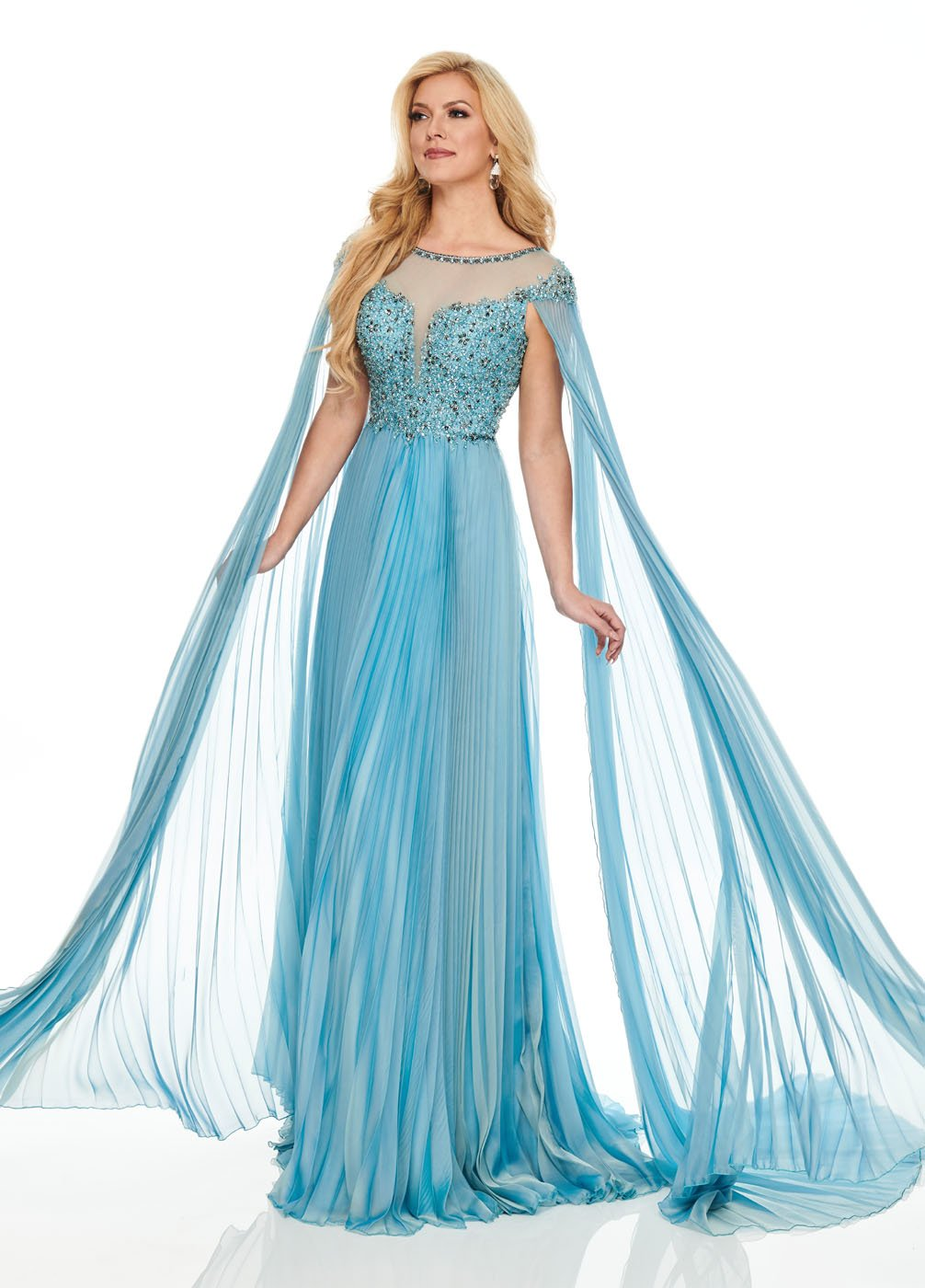 Rachel Allan 8425 prom dress images.  Rachel Allan 8425 is available in these colors: Smokey Blue, Black.