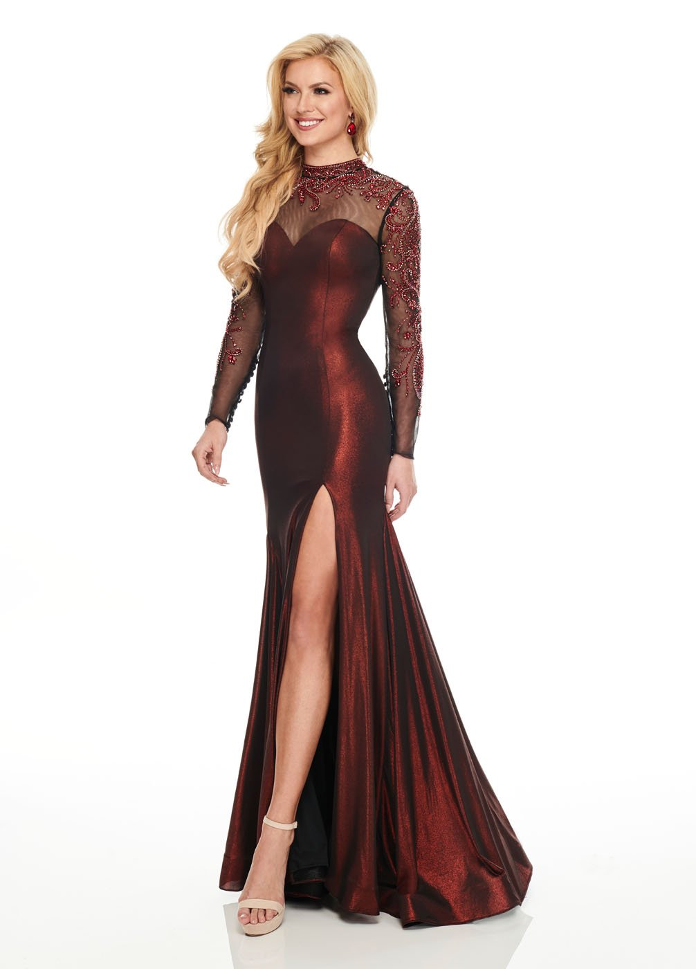 Rachel Allan 8428 prom dress images.  Rachel Allan 8428 is available in these colors: Burgundy, Navy.