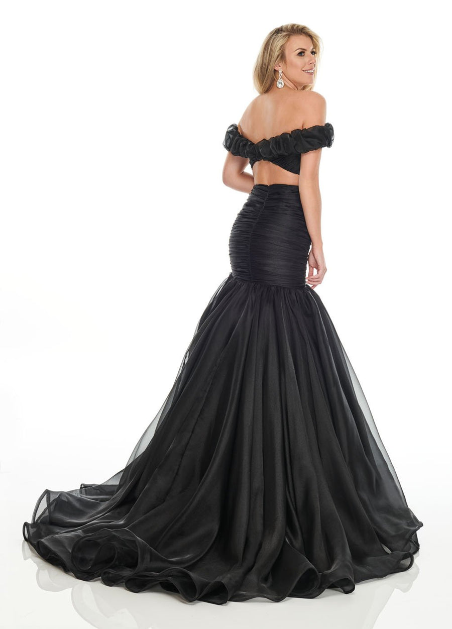 Rachel Allan 8430 prom dress images.  Rachel Allan 8430 is available in these colors: Black, Champagne.