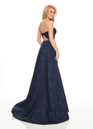 Rachel Allan 8431 prom dress images.  Rachel Allan 8431 is available in these colors: Jade, Navy.