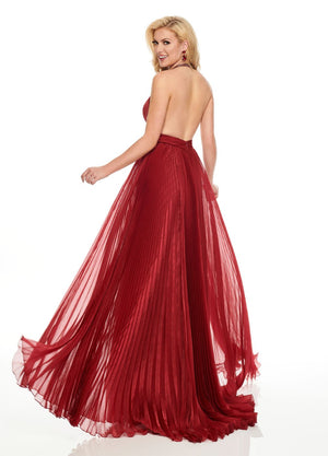 Rachel Allan 8434 prom dress images.  Rachel Allan 8434 is available in these colors: Marsala Gunmetal, Navy Gunmetal.