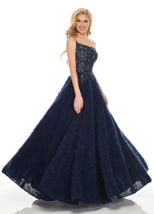 Rachel Allan 8442 prom dress images.  Rachel Allan 8442 is available in these colors: Navy, Silver.