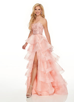 Rachel Allan 8444 prom dress images.  Rachel Allan 8444 is available in these colors: Blush, Navy.