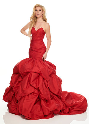Rachel Allan 8445 prom dress images.  Rachel Allan 8445 is available in these colors: Black, Deep Red.