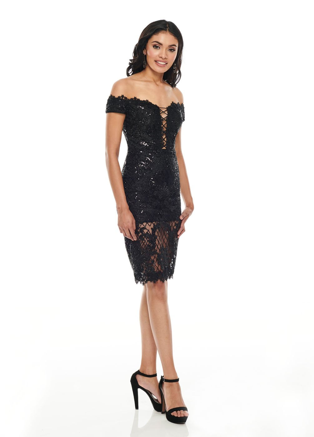 Rachel Allan L1267 prom dress images.  Rachel Allan L1267 is available in these colors: Black, Red.