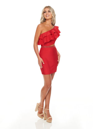 Rachel Allan L1281 prom dress images.  Rachel Allan L1281 is available in these colors: Black, Red, White.