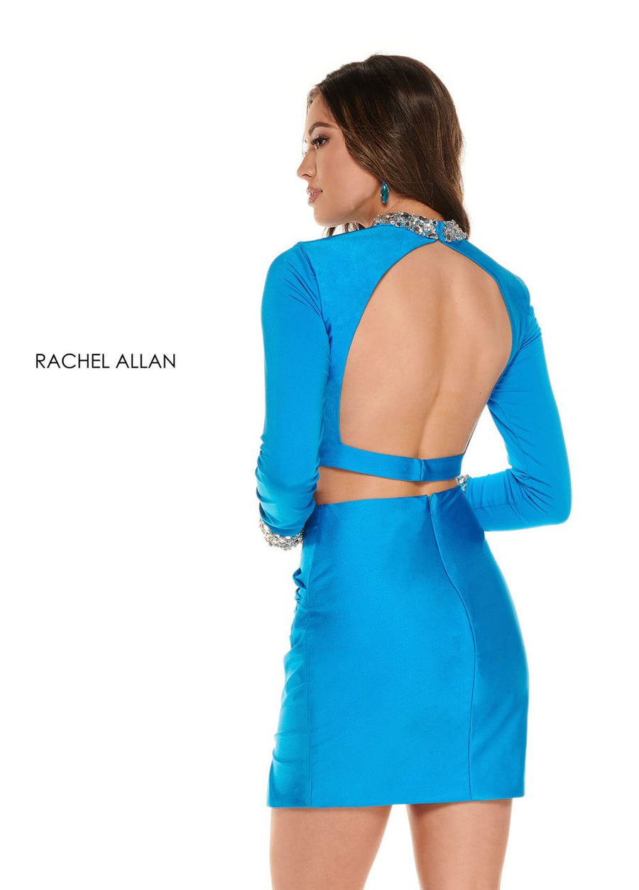 Rachel Allan 30010 prom dress images.  Rachel Allan 30010 is available in these colors: Neon Ocean,White,Neon Pink.