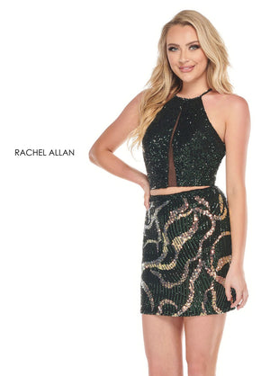 Rachel Allan 30027 prom dress images.  Rachel Allan 30027 is available in these colors: Burgundy Iridescent,Hunter Green Iridescent.
