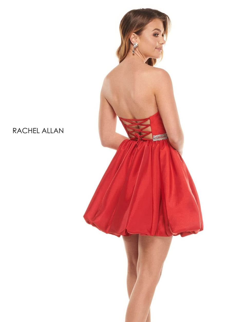 Rachel Allan 30031 prom dress images.  Rachel Allan 30031 is available in these colors: Red,Neon Green.