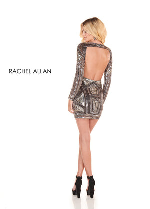 Rachel Allan 4000 prom dress images.  Rachel Allan 4000 is available in these colors: Black Silver,Royal Silver.