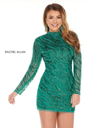 Rachel Allan 40000 prom dress images.  Rachel Allan 40000 is available in these colors: Deep Jade,Magenta.
