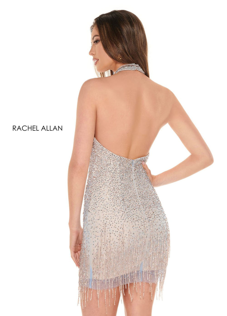 Rachel Allan 40012 prom dress images.  Rachel Allan 40012 is available in these colors: Powder Blue Rose Gold,Gold Silver.
