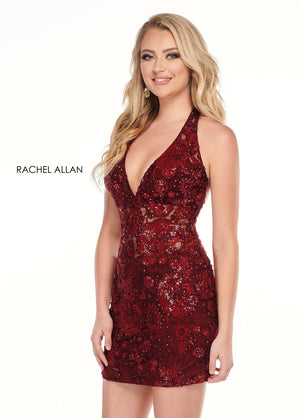 Rachel Allan 40047 prom dress images.  Rachel Allan 40047 is available in these colors: Burgundy,Navy.
