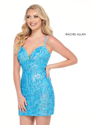 Rachel Allan 40058 prom dress images.  Rachel Allan 40058 is available in these colors: Neon Ocean,Neon Coral.