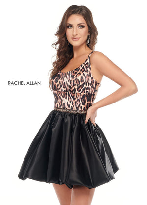 Rachel Allan 40077 prom dress images.  Rachel Allan 40077 is available in these colors: Animal.