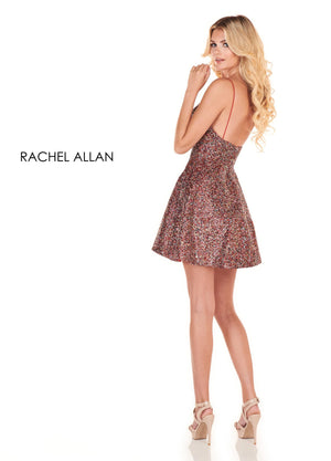 Rachel Allan 4009 prom dress images.  Rachel Allan 4009 is available in these colors: Metallic Multi,Rose Gold Gold.
